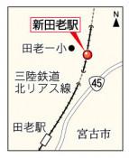 新田老駅の設置認可 東北運輸局