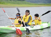 探検やカヌー、催し多彩 花巻・東和の田瀬湖