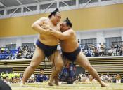 63年ぶり、復興たぐる大一番 陸前高田で大相撲夏巡業
