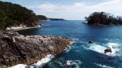 どこまでも青、浮かぶ島々 陸前高田・広田崎巡る