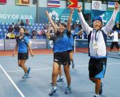 高橋乃綾、個人に続き2冠 アジア大会ソフトテニス女子