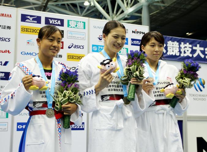 表彰式で上位入賞選手に贈られた八幡平市産リンドウを使ったビクトリーブーケ=7日、横浜市(ビクトリーブーケプロジェクト事務局提供)