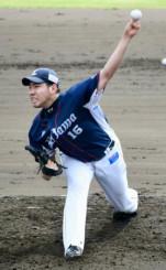 みやざきフェニックス・リーグで登板した西武・菊池雄星=宮崎県日南市