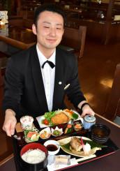 きくすい水沢本店で20日から提供を始めた期間限定メニュー「金色膳」