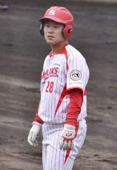 社会人野球の日本選手権北海道予選で攻守に活躍した室蘭シャークスの佐々木大樹