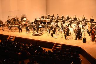 支援への感謝を込めて美しいサウンドを響かせる上野中吹奏楽部