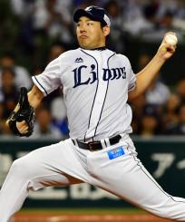 パ・リーグのクライマックスシリーズ・ファイナルステージでソフトバンクを相手に力投する西武・菊池雄星=10月17日、メットライフドーム