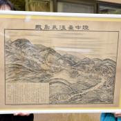 100年前の台温泉、一望 花巻・簡易郵便局が鳥瞰図展示