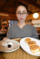 新商品の山田ひゅうず(左)とオイスターバタークリームサンド