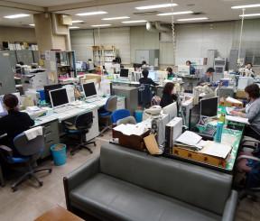 県庁内保育所を整備する医療局棟1階。保育室などを設ける