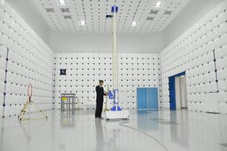 県工業技術センター「ものづくりイノベーションセンター」の10メートル法電波暗室