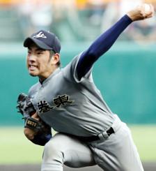 花巻東高時代の菊池雄星投手=2009年8月、甲子園