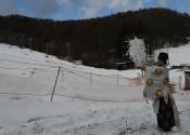 降雪、今季の無事故を祈願 村営くのへスキー場