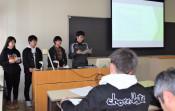 学生視点で公共交通利用促進を 県立大生が実践案発表