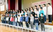 気仙小、学びやに別れ 陸前高田、新校舎での成長誓う