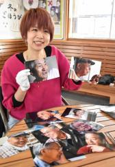 「おっさん」をテーマに写真展を開いている谷口紘子さん