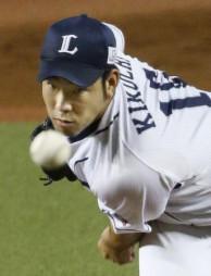 2018年9月、ソフトバンク戦で力投する西武の菊池雄星投手=メットライフドーム