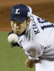 マリナーズへの入団が合意に達した西武・菊池雄星投手=2018年9月、埼玉県所沢市・メットライフドーム