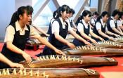 みやびな音色、新春彩る 盛岡二高がイベントで琴演奏