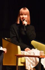 約5年ぶりに久慈市を訪れ、大河ドラマ「いだてん」の見どころをアピールする橋本愛さん