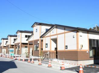 完成した山田町飯岡の災害公営住宅飯岡団地。町内全ての災害公営住宅整備が完了した