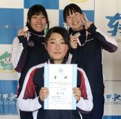 盛岡工高、女子チームスプリント2位 Sスケート全日本Jr.