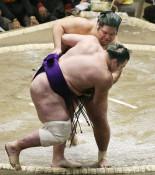 錦木、連日の大関撃破 大相撲初場所2日目