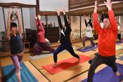 ヨガやサップで地域元気に 北上と西和賀、新プログラム始まる