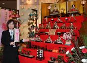 「ひな祭り」一足早く 花巻・宿泊施設20軒で展示