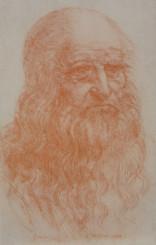 「自画像」トリノ王立図書館収蔵素描集ファクシミリ版