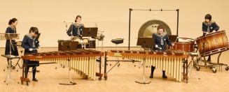 東北大会出場を決めた北上・上野中打楽器五重奏