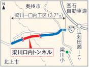 3月28日バイパス部開通 国道107号梁川-口内工区