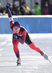 女子1000メートル 1分25秒78で5位入賞を果たした熊谷萌(盛岡工)=福島県郡山市・磐梯熱海スポーツパーク郡山スケート場