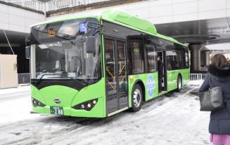 県交通が盛岡市内の路線で導入する電気バス