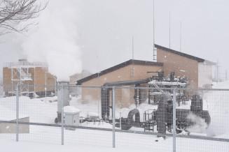 29日に本格運転を開始した松尾八幡平地熱発電所
