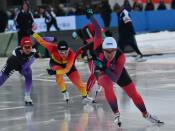 熊谷(盛岡工高)3連覇 スケート国体少年女子500
