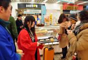 岩泉の味たくさんの人に 盛岡駅で特産フェア