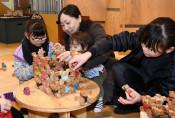 木の玩具、親子向けに100種類 花巻・マルカンビルで展示