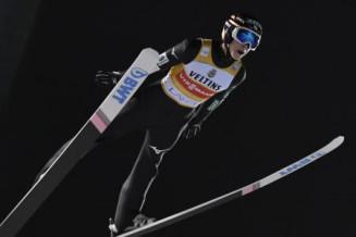 スキーW杯ジャンプ男子個人第20戦、2位に入った小林陵侑=10日、ラハティ(ロイター=共同)