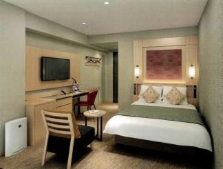全面改装されるアートホテル盛岡の客室イメージ(マイステイズ・ホテル・マネジメント提供)