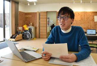 「これからの大船渡のまちづくりで主役になる人が育ってほしい」と話す藤田太郎さん