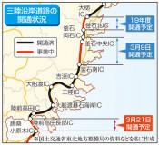 気仙沼-高田間3月21日開通 三陸沿岸道路