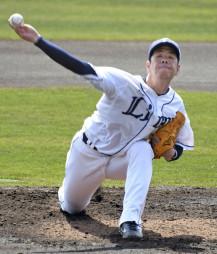 韓国プロ野球斗山との練習試合に先発した西武・多和田真三郎。3回を4安打無失点=宮崎