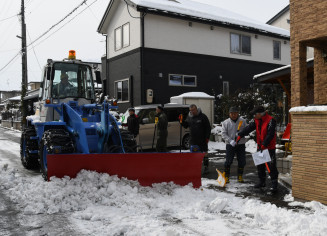 住民主体の除雪に取り組むまごころ除雪隊