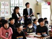 記事活用、松園小に学ぶ 長野の教諭、震災考える授業参観