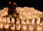 復興のともしび輝く 山田、つどいで犠牲者に祈り