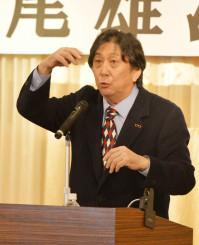 ラグビー人生を振り返る松尾雄治さん