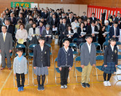 命と防災学び校史に幕 地域被災の県内2小閉校式