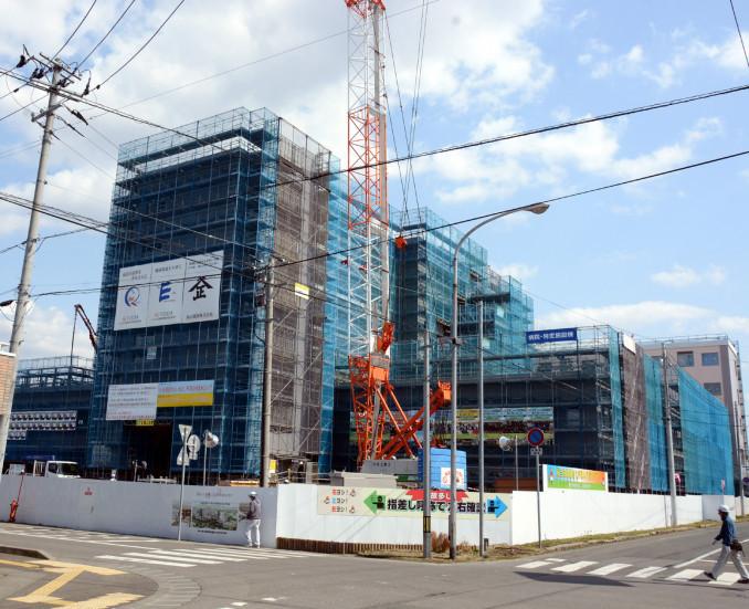 2020年3月1日の開院に向け移転整備が進む新しい総合花巻病院