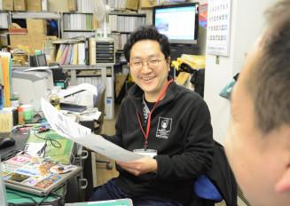 「京都に戻ってからも、困難から立ち上がる釜石の皆と同じように頑張りたい」と意欲を新たにする村上浩継さん=釜石市役所